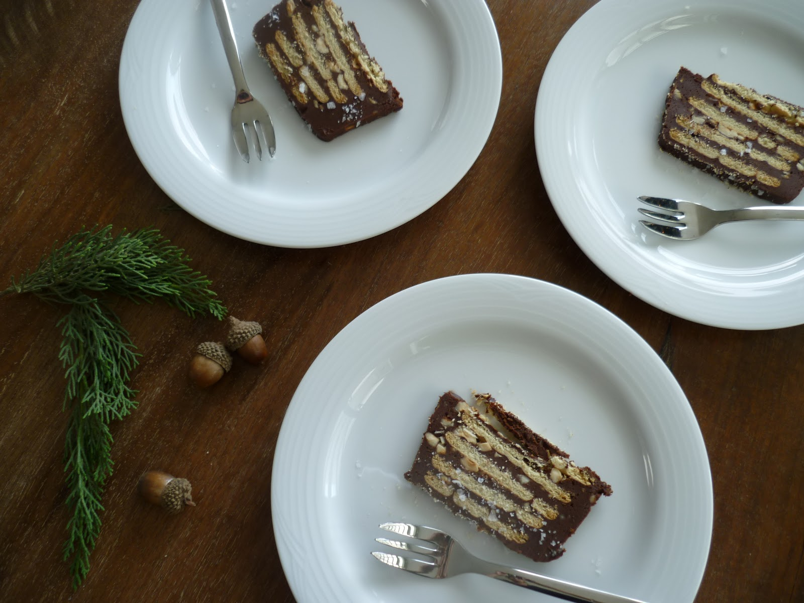 Terrina de Chocolate-Avellanas-Sal Maldon