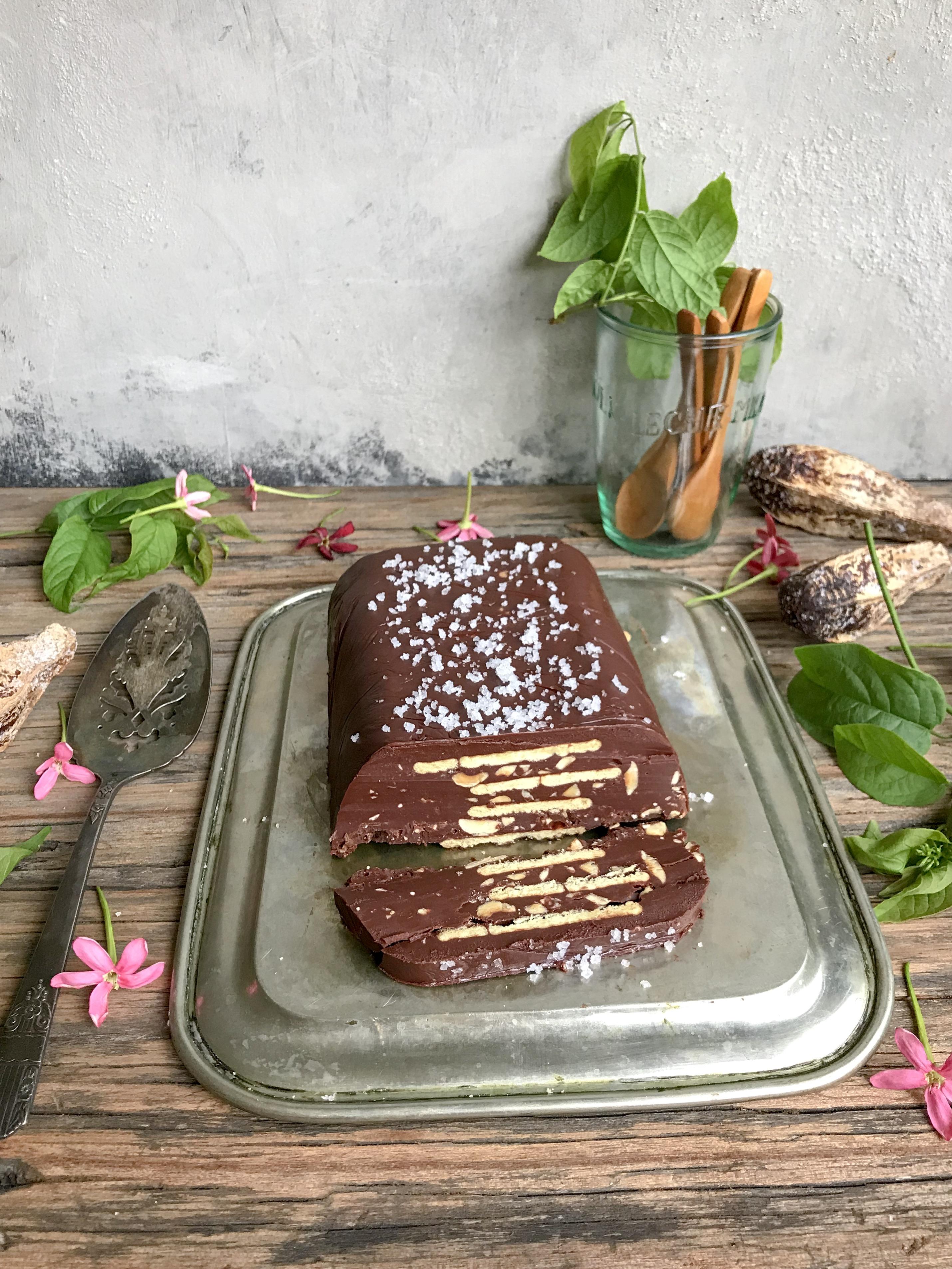 terrina de chocolate con sal