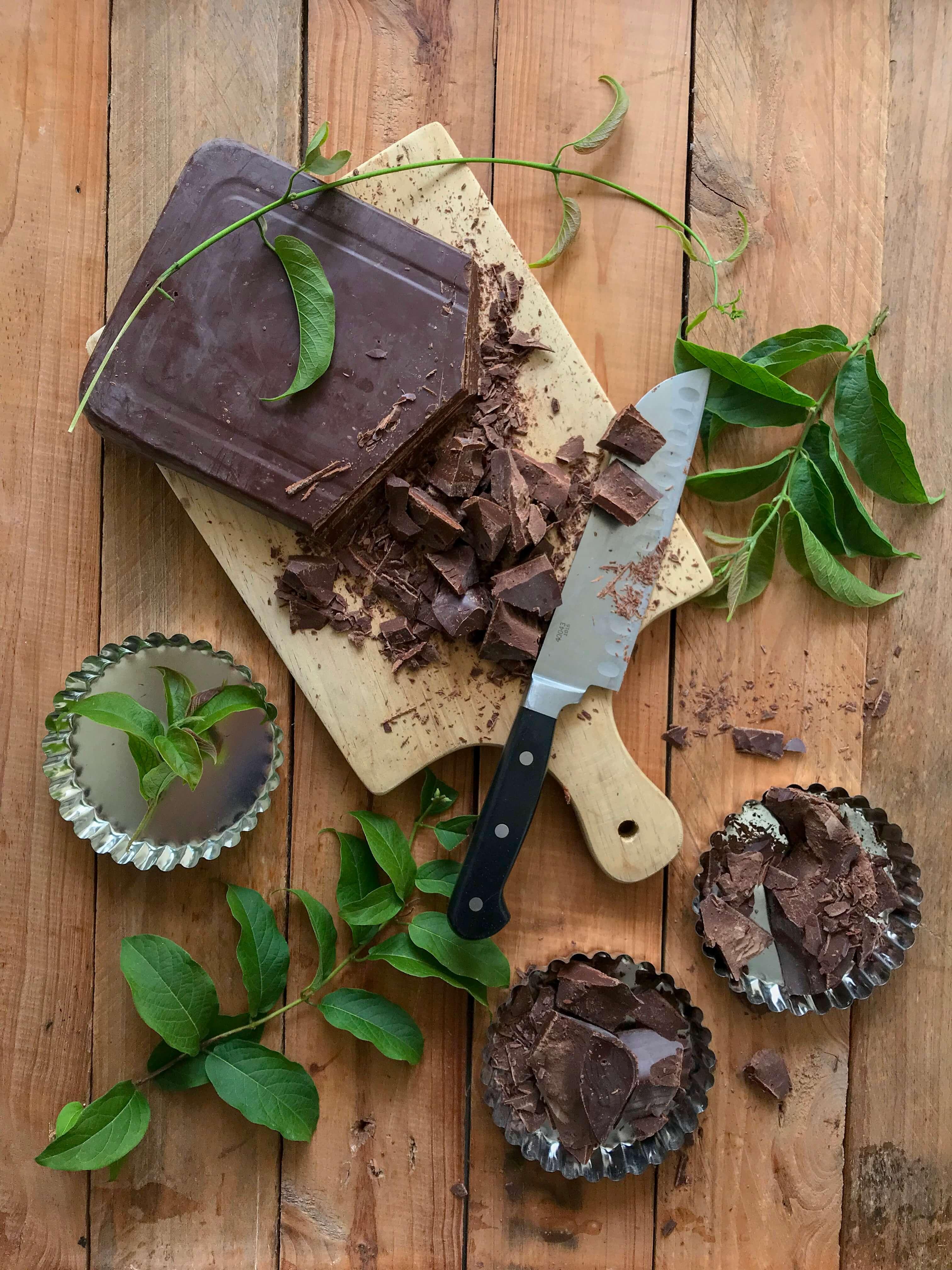 tartaletas chocolate frambuesas