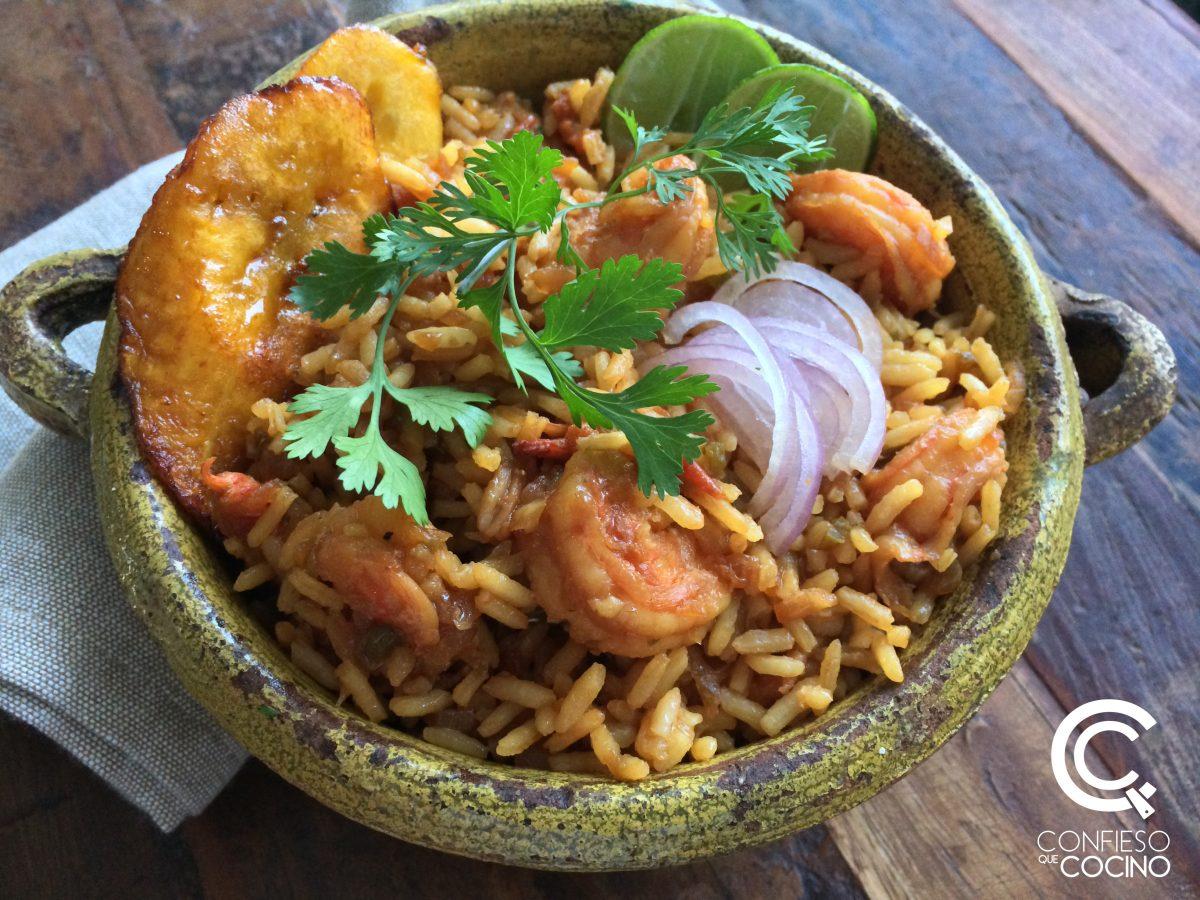 Arroz + Camarones cocina ecuatoriana