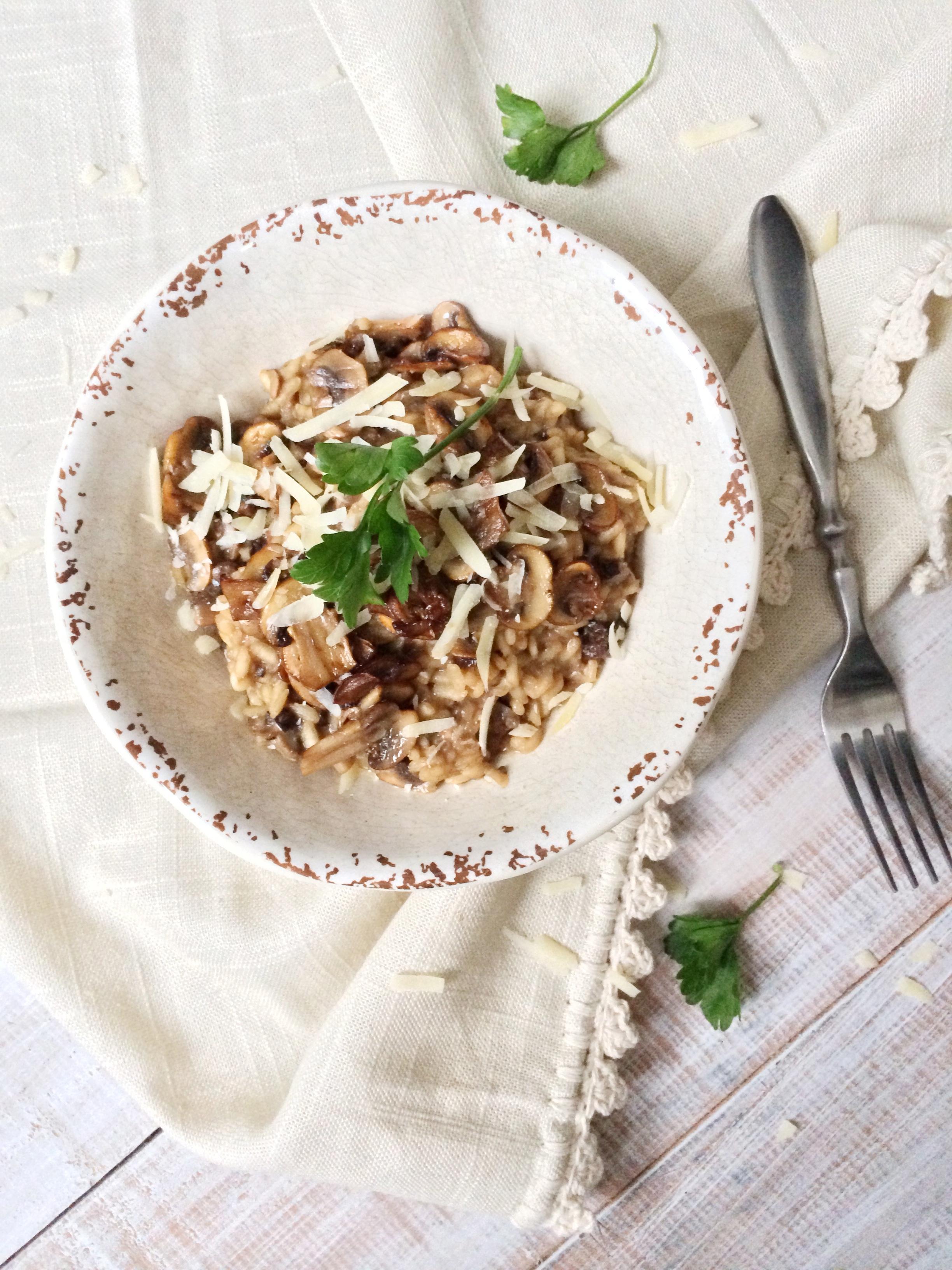 risotto de hongos
