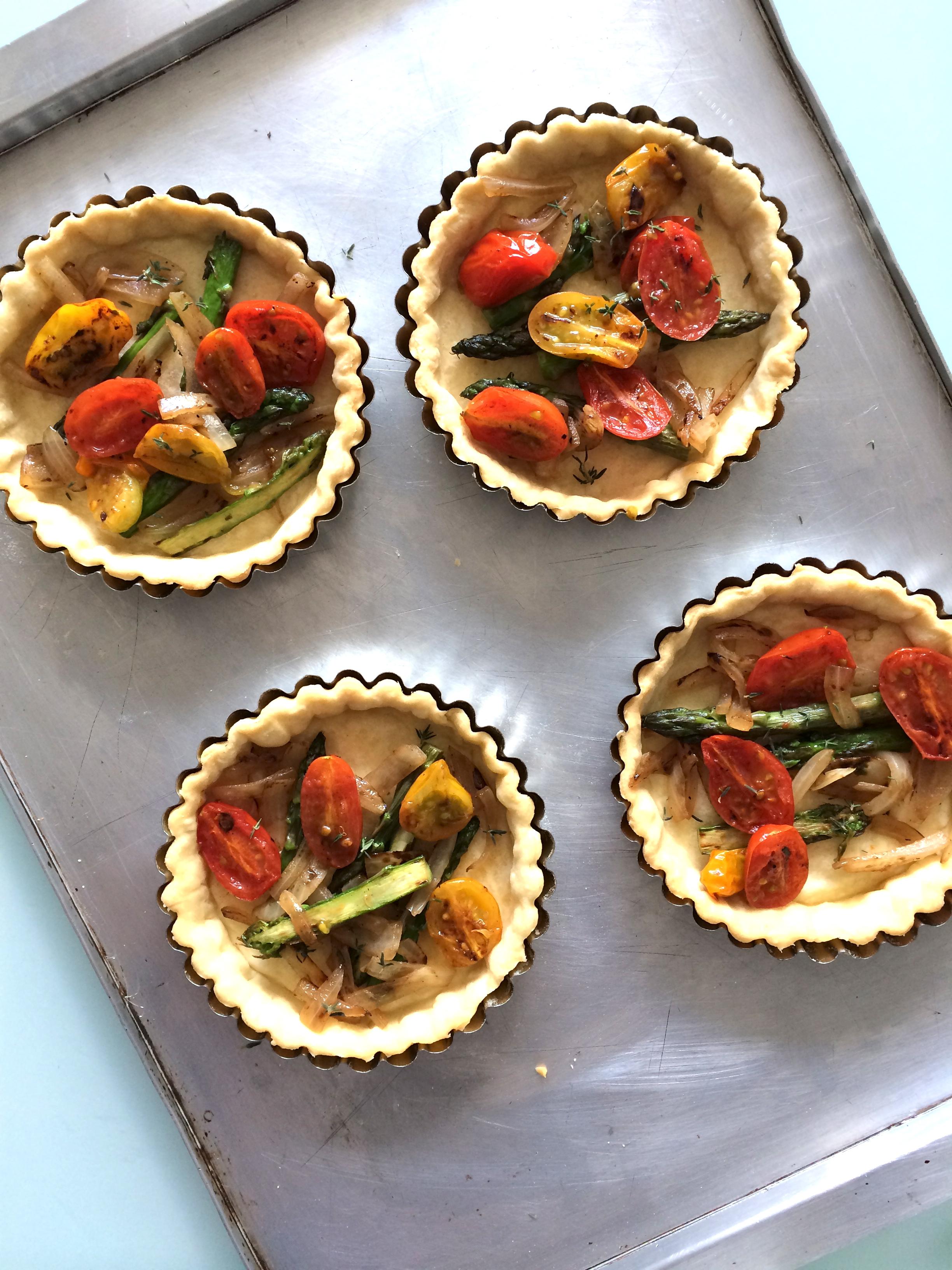 Tarata de vegetales con ricotta y parmesano
