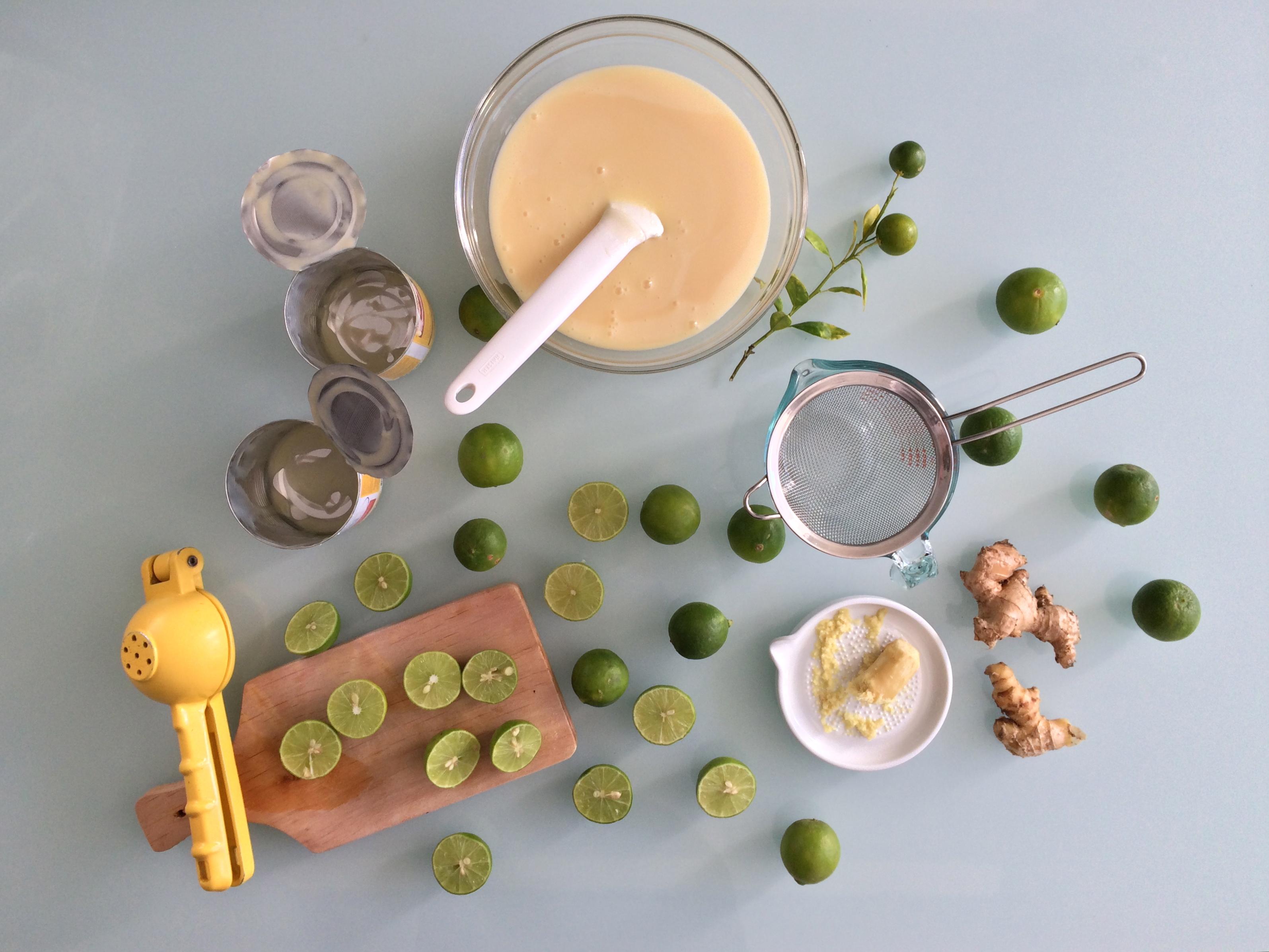 Pie de limón y jengibre