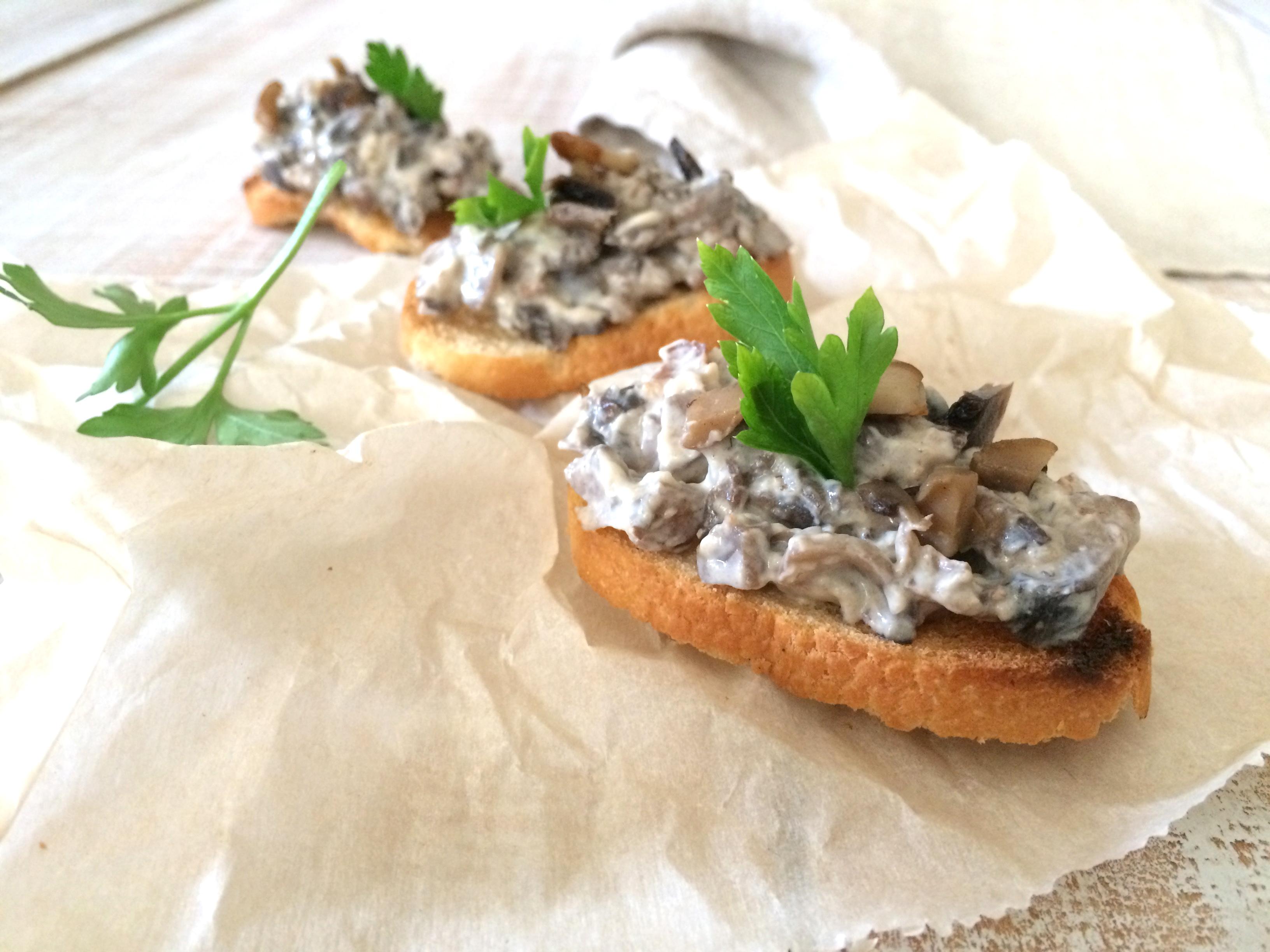 Pate de hongos portobello