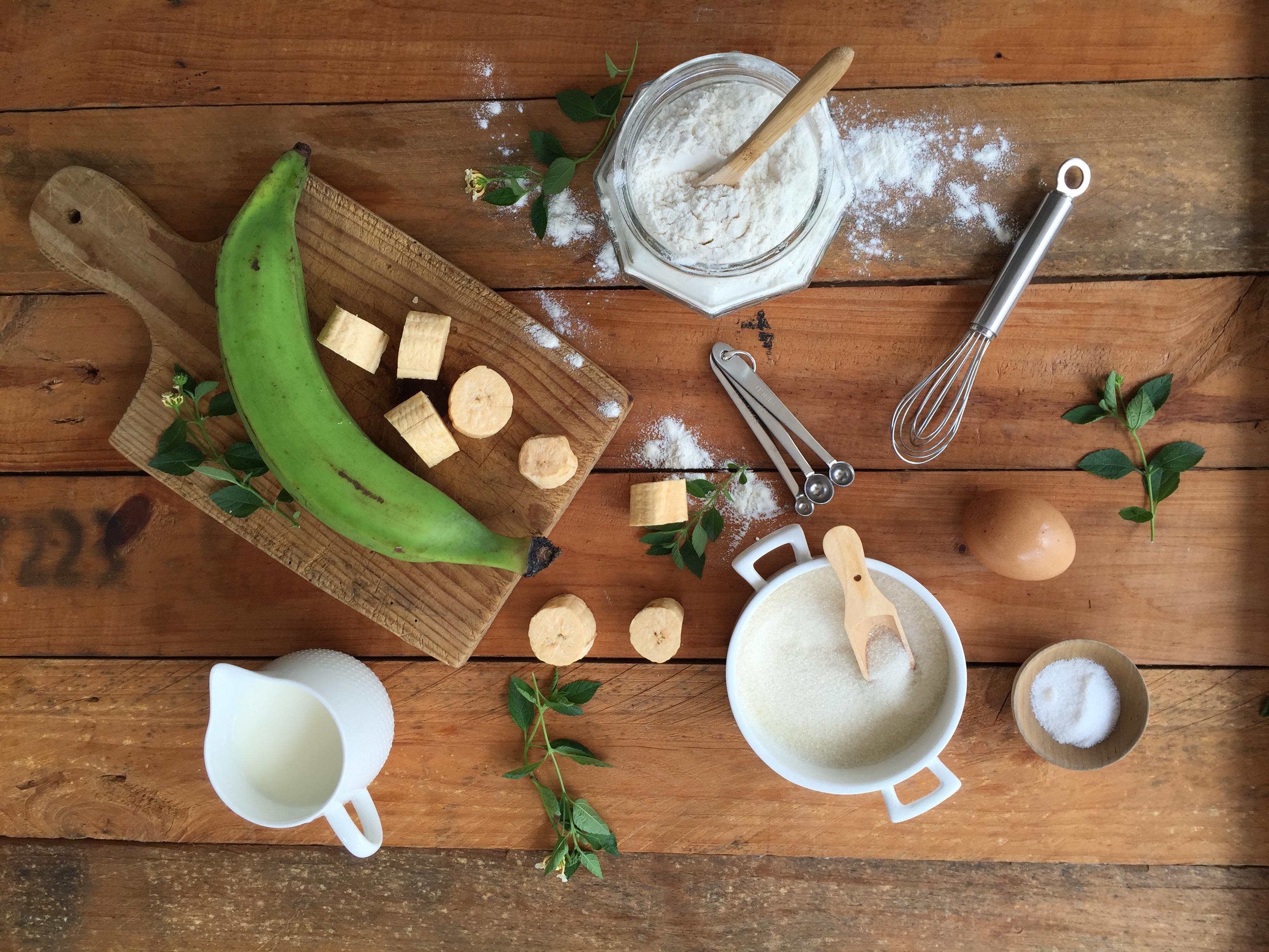 waffles de platano verde