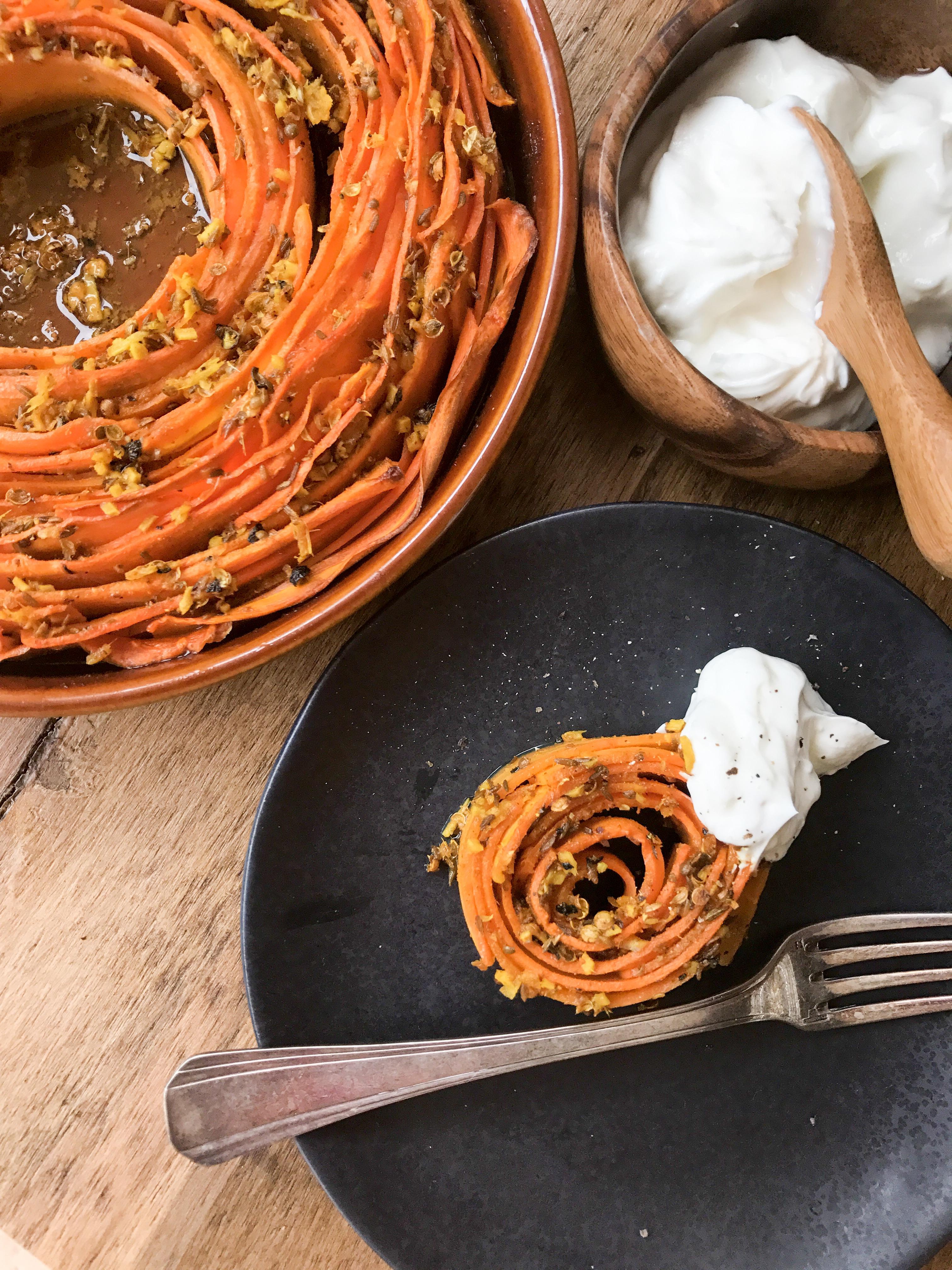 zanahorias asadas con especias
