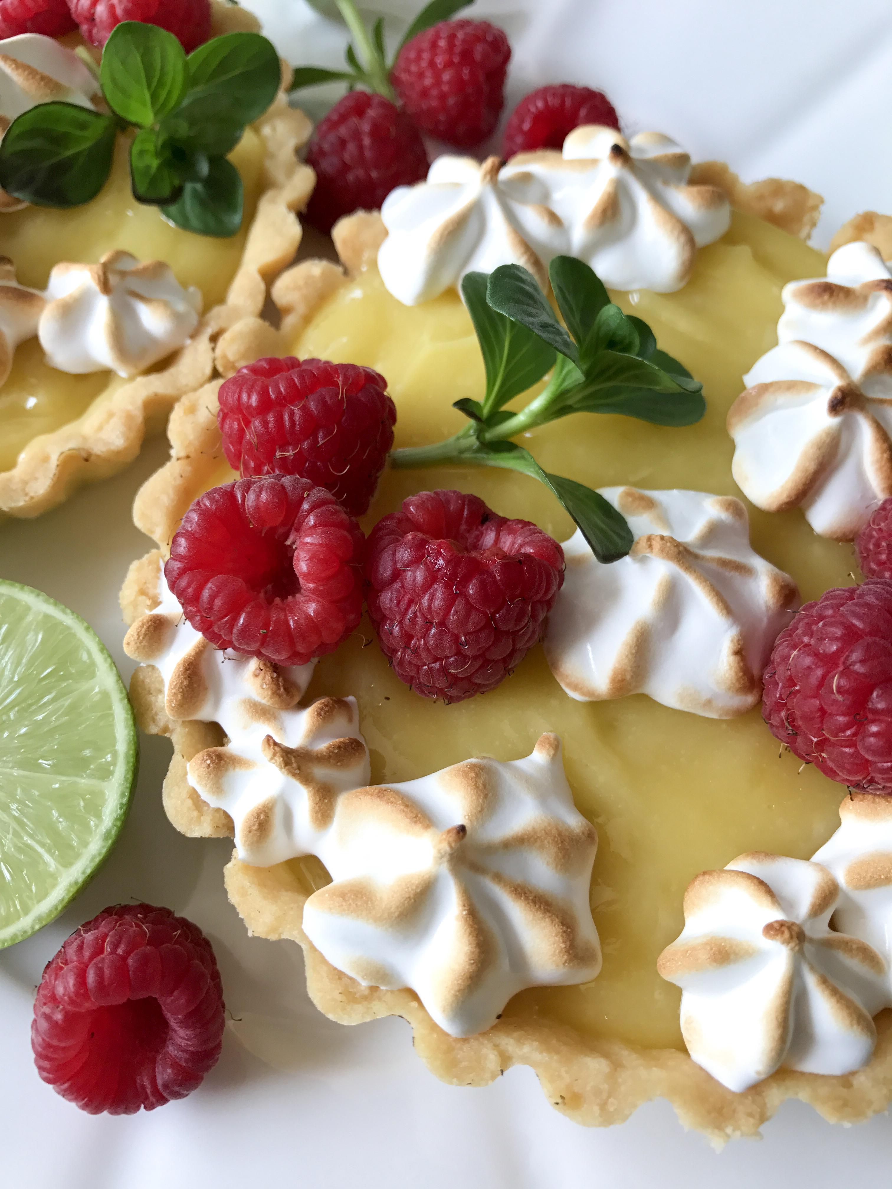 tartaletas de crema de limon