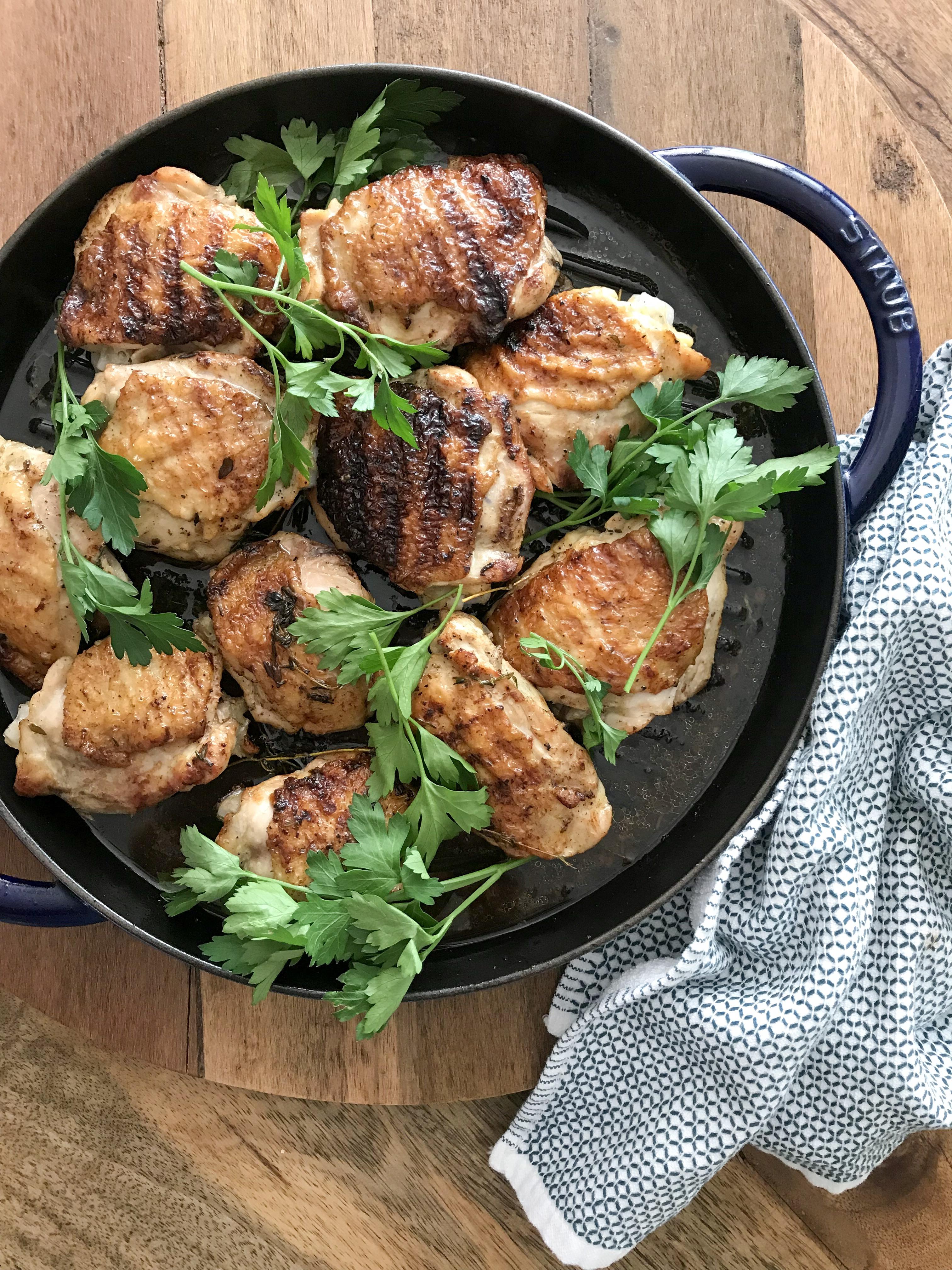 contramuslos de pollo a la plancha
