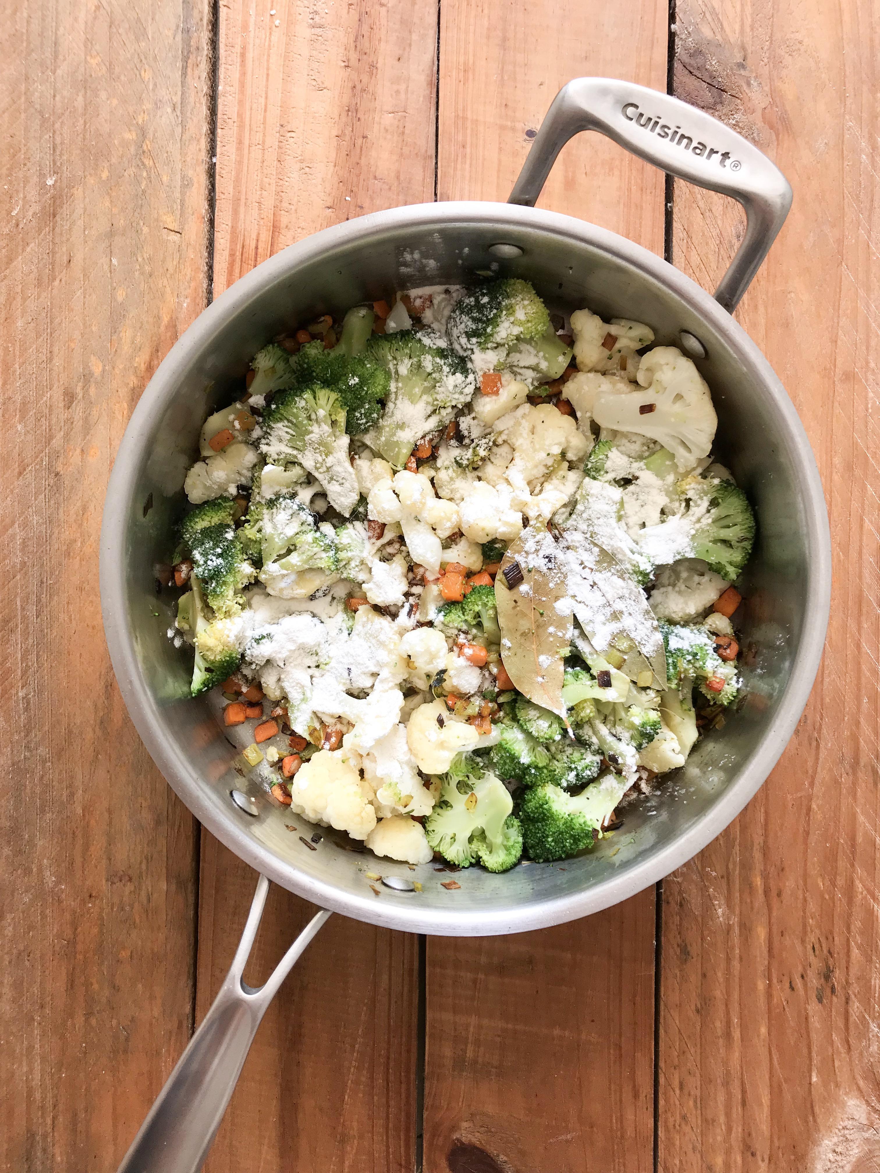 crumble de brocoli y coliflor