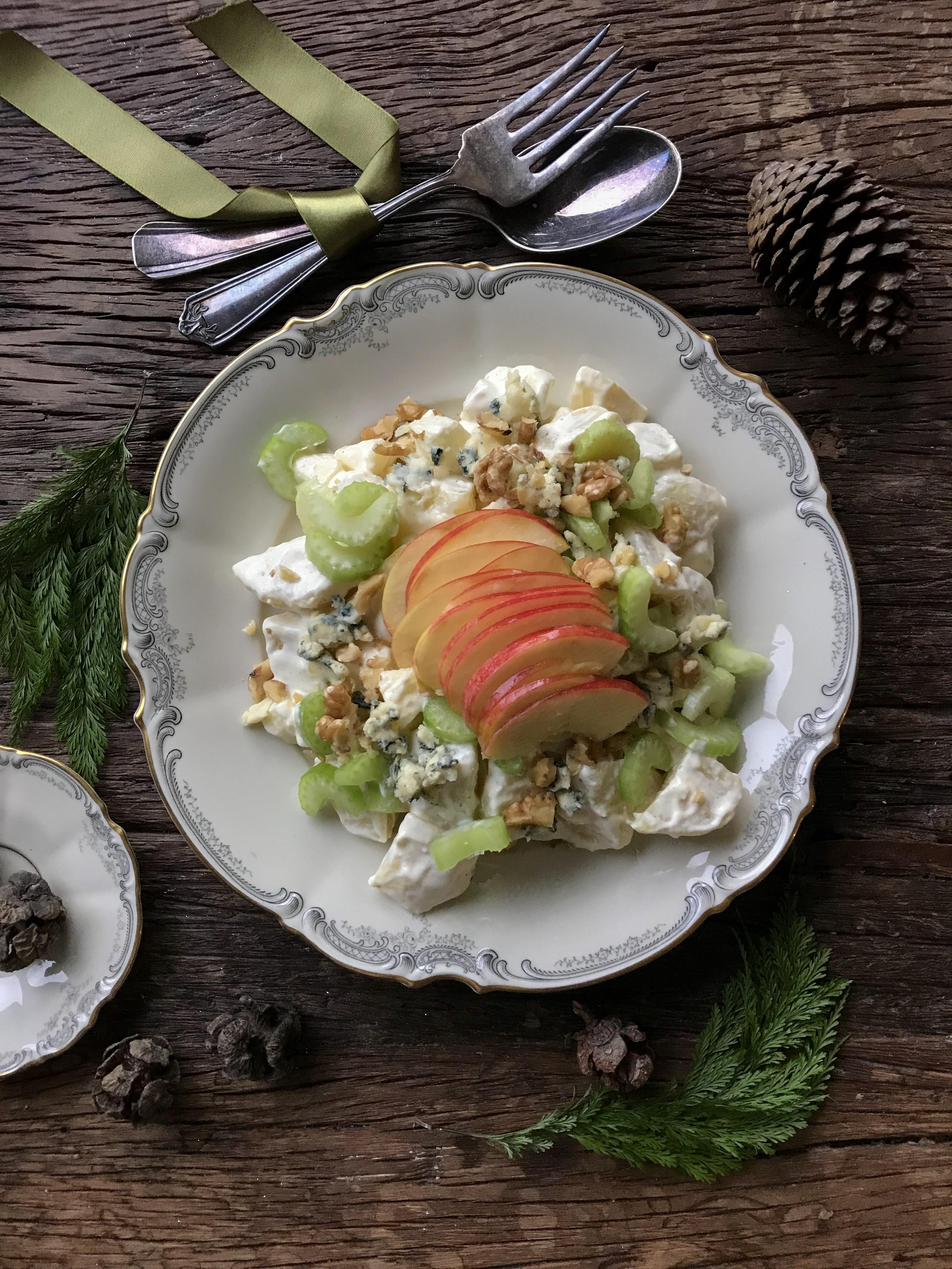 ensalada de papa con manzana
