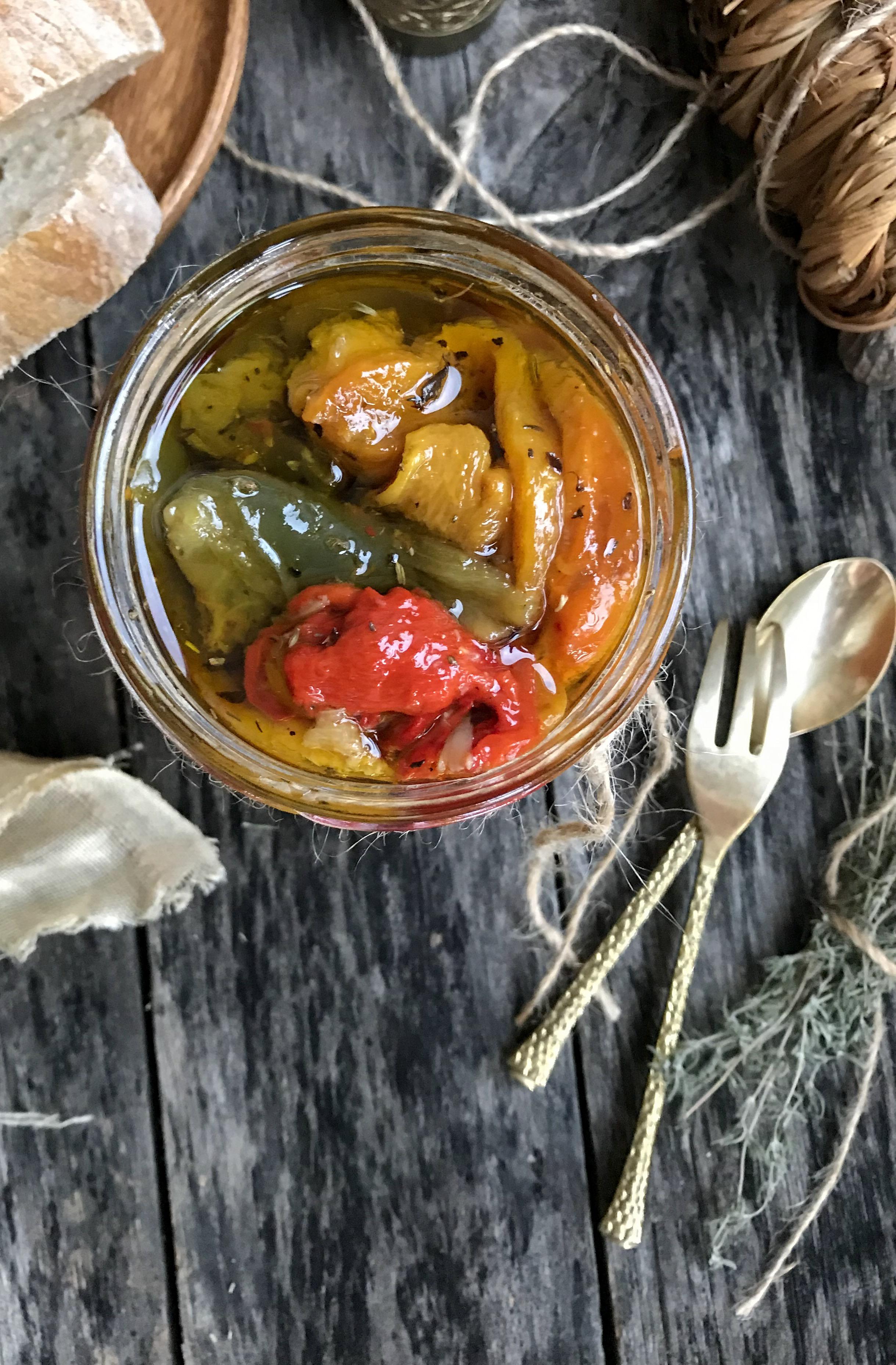 pimientos asados en aceite de oliva
