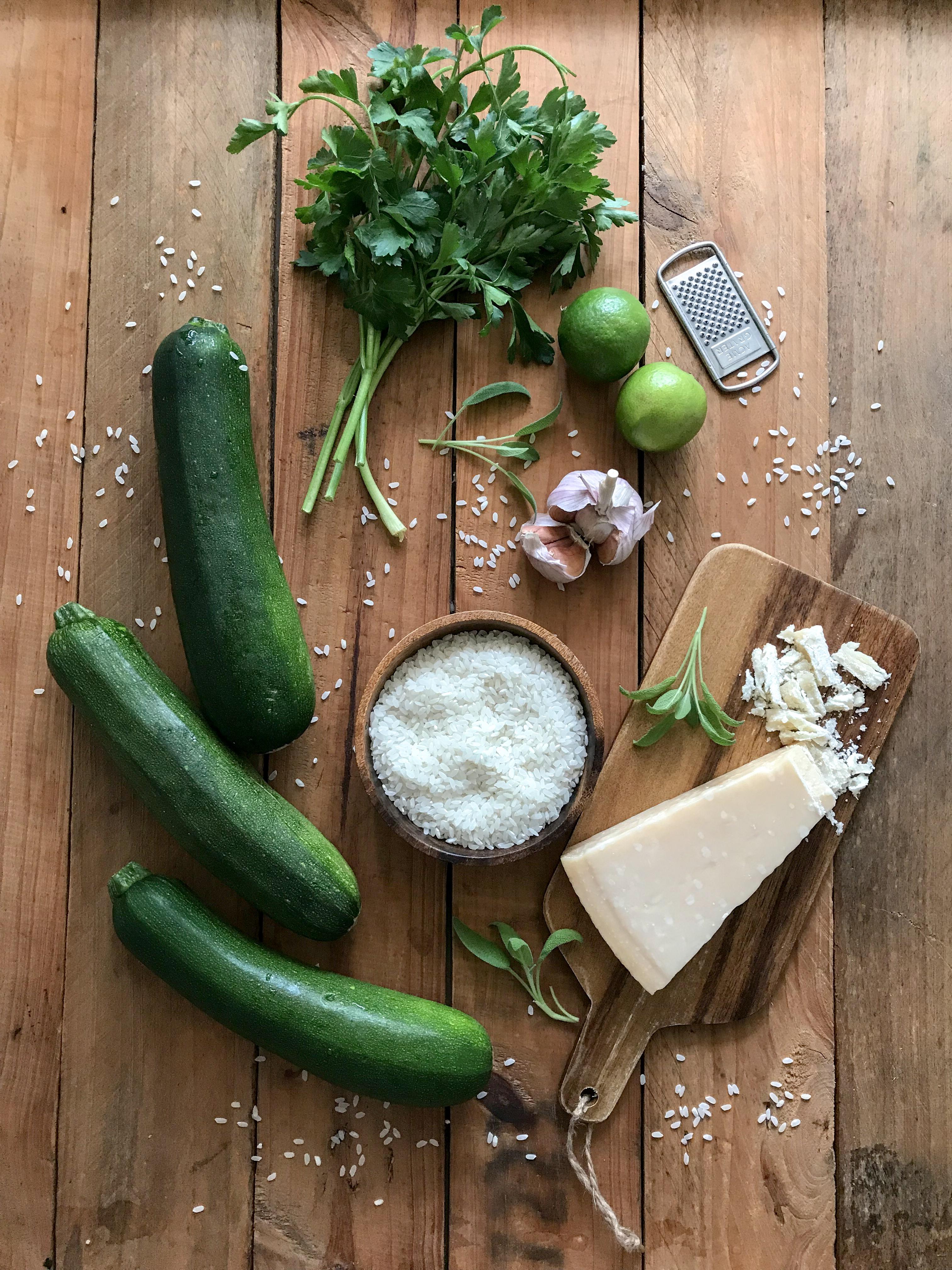 Risotto de zucchini y limón