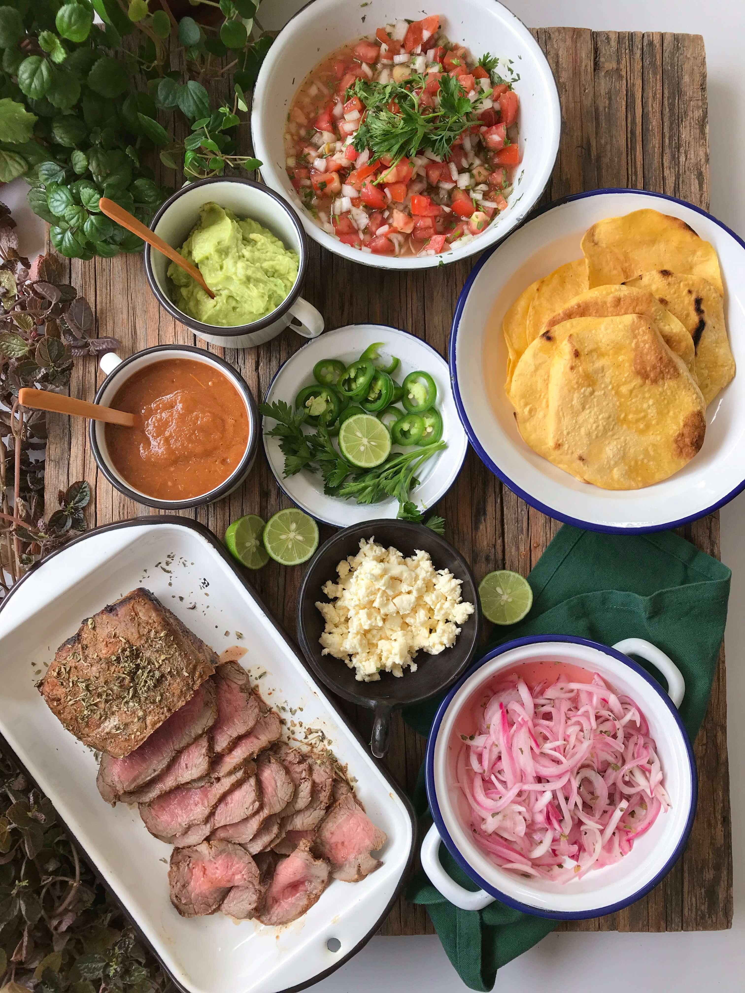 tacos de rosbif