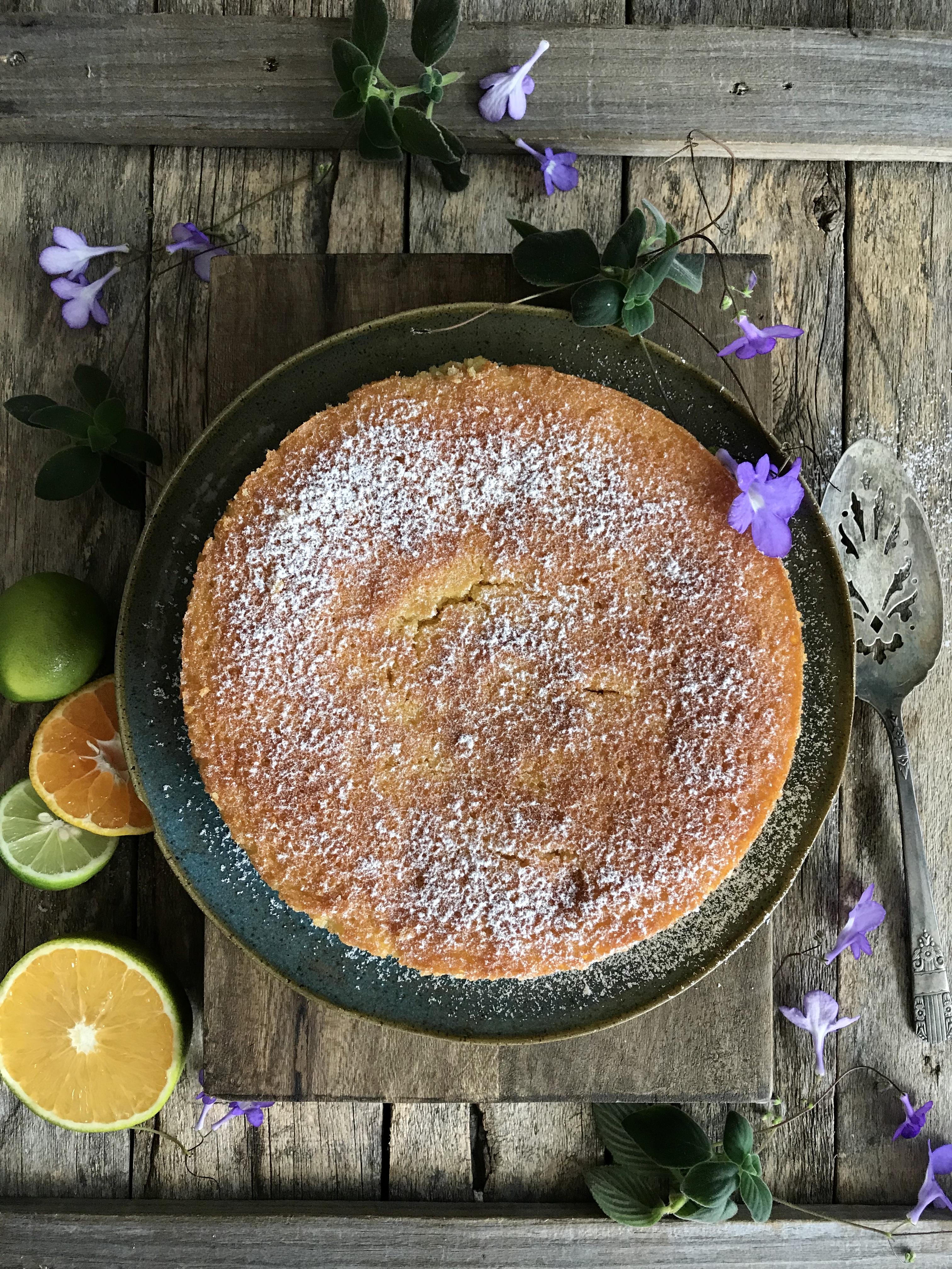torta almendras citricos