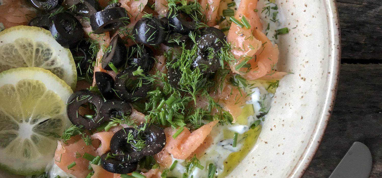 dip tzatziki salmon ahumado