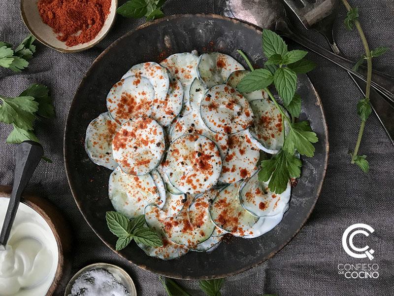 ensalada de pepino hungara