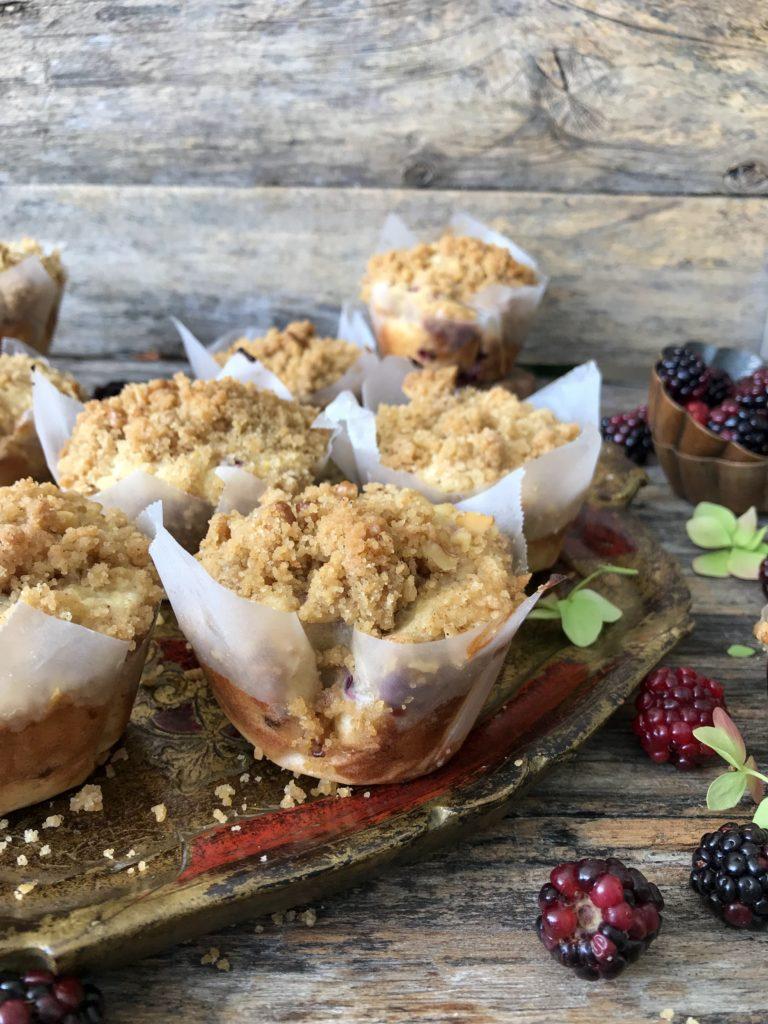 muffins de mora