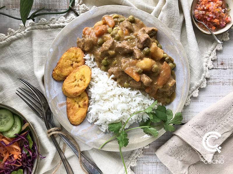 estofado carne ecuatoriano
