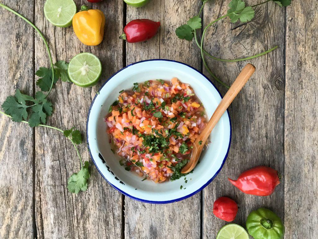 salsa de aji con zanahoria