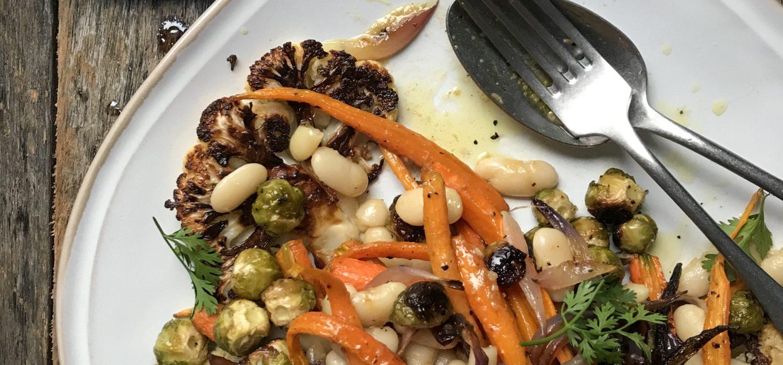 ensalada de verduras asadas