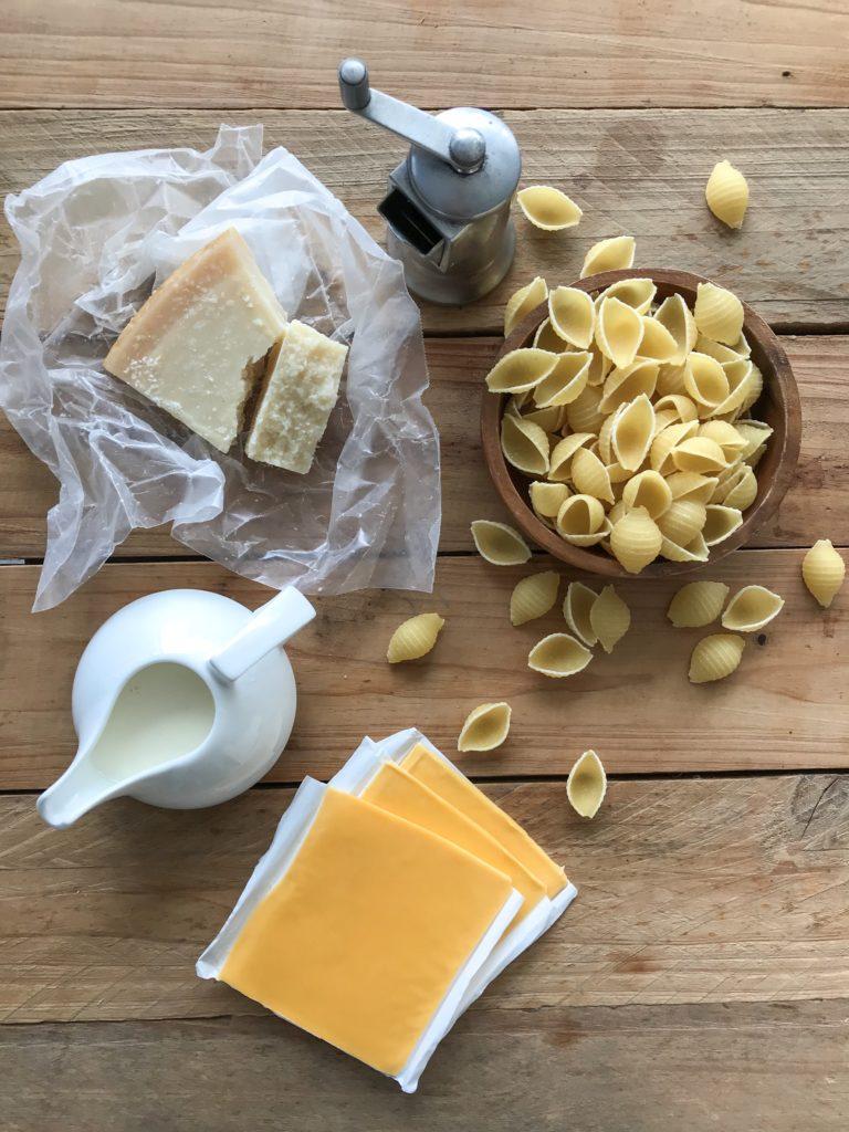 caracoles con queso