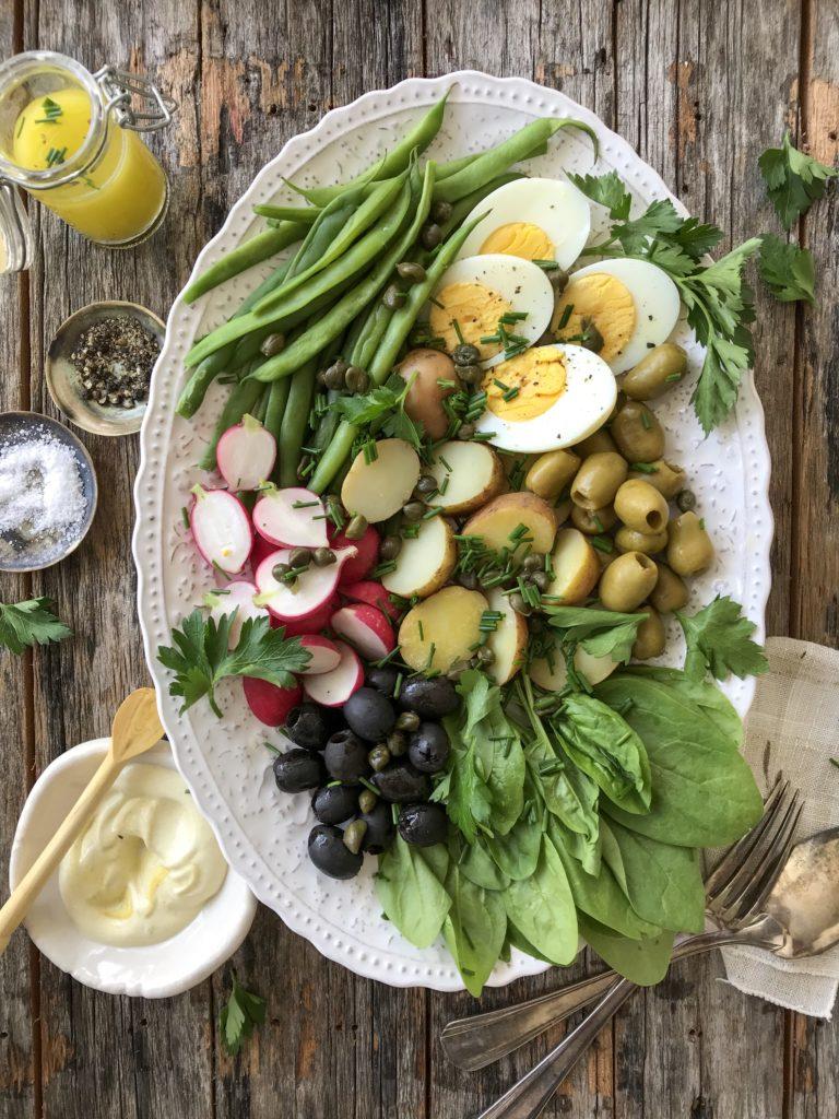 ensalada nicosia o ensalada francesa estilo niçoise