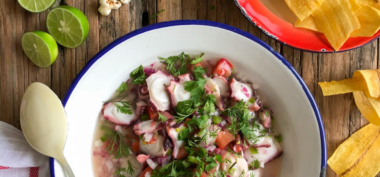 ceviche de pulpo ecuatoriano