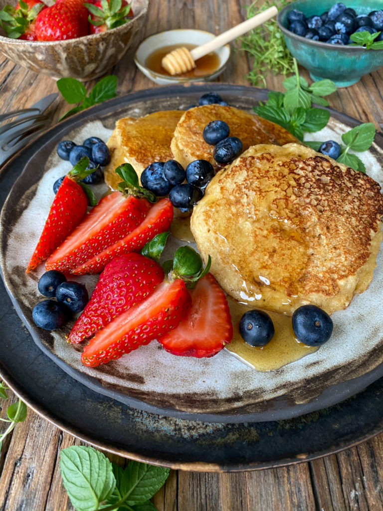 pancakes de avena y almendras
